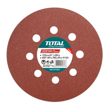 [TAC731251] 3Pcs, 125mm Sanding Sheet For Random Orbit Sander