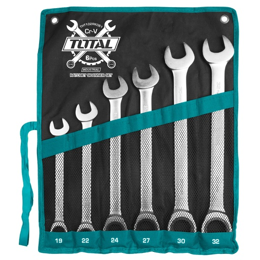 [THT102RK061] Ratchet Spanner Set 6Pcs Industrial
